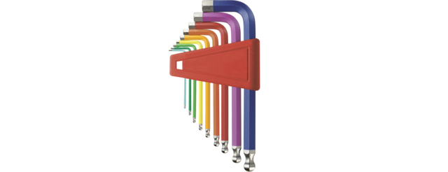 Ball point hex key L-wrench set