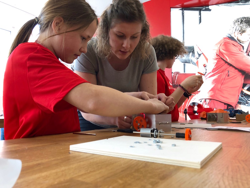 Encouraging girls' interest in technical matters